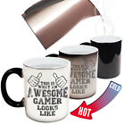 Funny Mugs This Is What An Awesome Gamer Looks Like Gamer MAGIC NOVELTY MUG