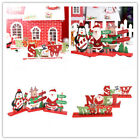 Christmas Wooden Ornament Santa Claus Snowman Party Supply Home Desktop Decors #