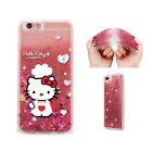 Hello Kitty Cat Liquid Quicksand Soft Silicone Case For iPhone Samsung LG F13008