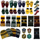 Harry Potter Scarf Tie Hats Gryffindor Slytherin Hufflepuff Ravenclaw Cosplay US