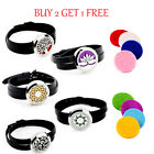 Aromatherapy Stainless Essential Oil Bracelet Leather Wrap Locket Diffuser Gift