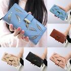 New Women Leather Hollow Out Leaf Long Purse Wallet Handbag Multi Card NC89