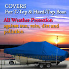 Boston+Whaler+255+Conquest+WA+T%2DTop+Hard%2DTop+Fishing+Storage+Boat+Cover+Blue