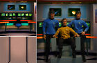 POSTER BACKDROP/SET~STAR TREK~ENTERPRISE BRIDGE FOR 1/6 FIGURE KIRK SPOCK SCOTTY