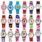 18 Colors 3D Cartoon Children Unisex Rubber Wrist Watch For Boys Girls Kids Gift
