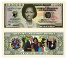 SET OF 100 BILLS-MICHELLE OBAMA FIRST LADY/FIRST FAMILY MILLION DOLLAR BILL by