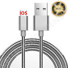 MFi Lightning Metal Fast Cable USB Charger for Apple iPhone 5 6S Plus 8 7 SILVER