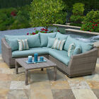 Rst Brands Cannes 4 Piece Sectional and Table