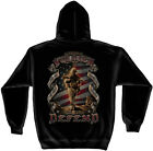 American Soldier Land of the Free Home of the Brave Patriotic Hooded Sweatshirt