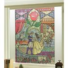 Disney Baeuty and the Beast Stained glass windows decorative sheet Japan