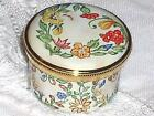 Staffordshire Hearts  And Flowers  Enamel Pill Box