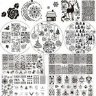 Christmas Nail Art Stamping Plates Born Pretty Image Stamp Templates Manicure