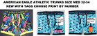 AMERICAN EAGLE ATHLETIC TRUNKS SIZE MED 32-34 CHOOSE PRINT BY NUMBER NEW/TAGS