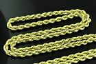 14k Solid Yellow Gold Rope Chain Necklace 3mm 18-24 inches Brand New 13.1-17.5gr