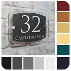 Modern House Number Sign Address Door Plaque Property Name Plate ROUND Acrylic