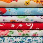 Poly/Cotton printed quality material Dress making fabric by the metre