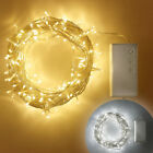 200 White/ Warm White LED Outdoor Battery Operated Fairy Lights on Clear Cable