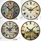 antique style clocks - Antique Clock Wall Rustic Vintage Style Wooden Round Clocks Art Home Decor Bell