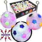 LED FLASHING SPIKY SOCCER YO-YO BALLS WITH SQUEAKERS SPIKY STRESS LIGHT UP TOY