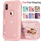 Fr iPhone X Case Diamond Hybrid Heavy Duty Shockproof Full-Body Protective Cover
