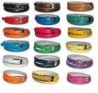 WOMEN/LADIES Super Skinny Leather Belt 4 sizes S / M / L / XL - 20 COLORS