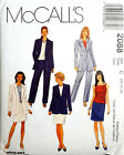 McCALL'S PATTERN LINED JACKET TOP PANTS SKIRT SIZES 10-12-14 # 2088