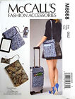 MCCALL'S PATTERN CELL PHONE COMPUTER SLEEVES & LUGGAGE SADDLE BAG # M6668