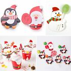 Penguin Santa Claus Snowman Christmas Candy Lollipop Decoration Paper Decor Card