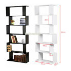 Panana 6 Tier S Shape Bookshelf Bookcase Display Shelf Unit Divider Storage Rack