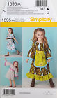 SIMPLICITY PATTERN DRESS IN TWO LENGTHS TODDLER GIRLS' SIZE 1-3 or 4-8 # 1595