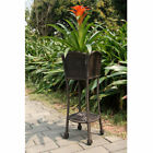 Outdoor Resin Wicker Planter Stand by Jeco