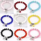 New Summer Fashion Rhinestone Glass Beads Charm Bracelet Love Heart Bangle Hot