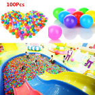 100x Ocean Ball Plastic Colorful Balls Kid Secure Baby Pit Swim Pool Toy 4/5.5cm