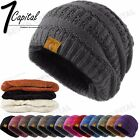 Kyпить Women's Men Knit Slouchy Baggy Beanie Oversize Winter Hat Ski Fleece Slouchy Cap на еВаy.соm