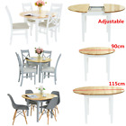 Florence Round Extending Table Kitchen Dining table and 4 chair center extension