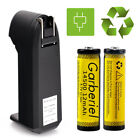 Garberiel 3.7V Li-Ion 1200Mah Rechargeable 14500 Battery + US Charger For Torch