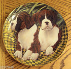 Danbury Mint BOXER Porcelain Plate Limited Ed. Simon Mendez Two of a Kind Dog