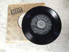 the WEAVERS kisses sweeter than wine/when saints go marching in DECCA   45