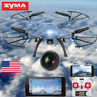 Syma X5HW-I 2.4G 4CH 6Axis FPV Drone with WIFI HD Camera Hover RC Quadcopter US