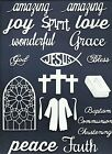 LOTS 6 - 24 PCS. SUB-SETS RELIGIOUS DIE CUTS* FAITH PEACE CROSS ROBE WORD READ