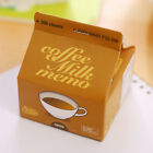 300pcs Cute Simulated Milk Coffee Box Memo Notepad Sticky Notes School Supplies