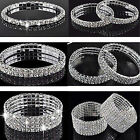 Diamante Stretch Bracelet Bling Sparkly Rhinestone Crystal For Ladies And Women