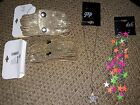 NWT deb star warrings, necklace and two gold colored snap bracelets