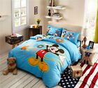 Mickey Mouse Printed Comforter Bedding Set For Kids Blue King Queen Twin Single