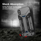 Slim Wallet Armor Case + 3D Curved Glass For A pple i Phone X / 10 - US Seller