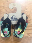 NWT Quiksilver Toddler flip flops for boys size 4 & 6  Multicolor