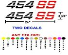 454 SS TRUCK stickers decals ANY COLORS TWO DECALS SILVERADO 4X4 CHEVROLET CHEVY