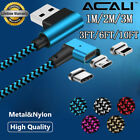3/6/10ft 90 Degree Double-Elbow Magnetic Type-C/IOS/Micro USB Charger Data Cable