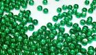 PREMIUM METALLIC GREEN BRASS BEADS FOR FLY TYING 7 SIZES TO PICK FROM - 25 COUNT