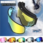 Pro Snow Ski Snowboard Goggles Double Lens Low Ligh / Night Anti fog UV Glasses